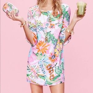Lilly Pulitzer for Target Nosey Posey Satin Dress